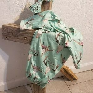 Other - infant night gown with matching bow